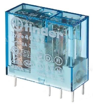Finder Printrelais 24V/DC 16A, Raster 5mm