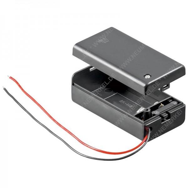 Batteriehalter 1x9 Volt Block geschlossen