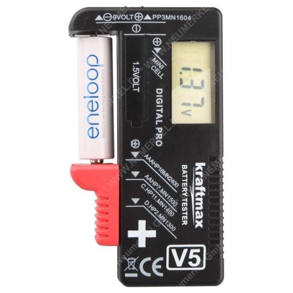 Kraftmax Batterietester mit LCD-Display...