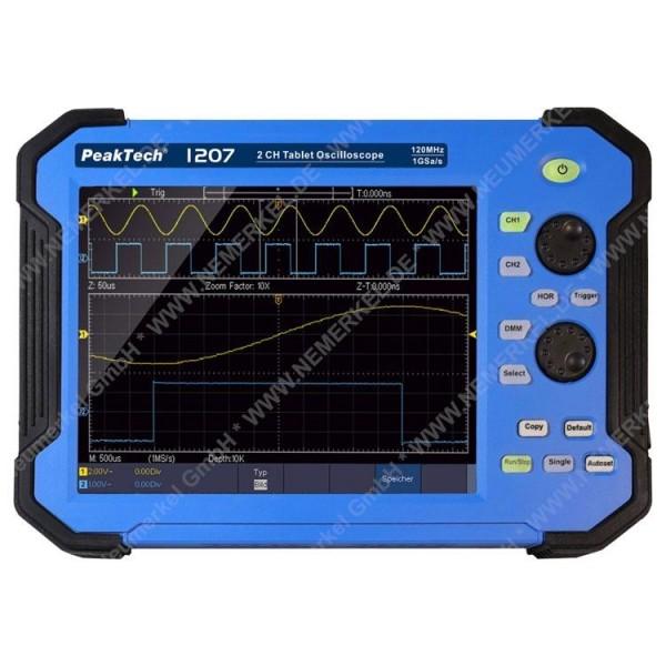PeakTech 1207, 120 MHz Oszilloskop Tablet...