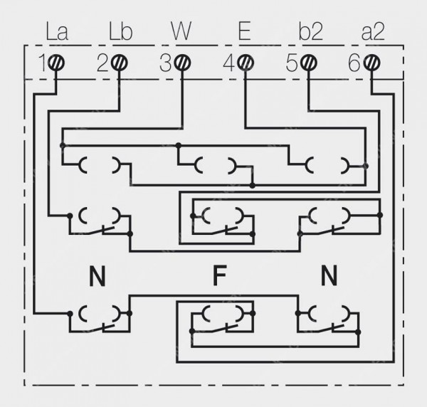 TAE 3X6 NFN-Ap rw Telefondose 1 Asl Rutenbeck