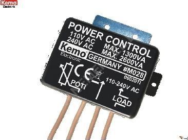 """M 028 Leistungsregler 110-240 V/AC """"Kemo"""""""