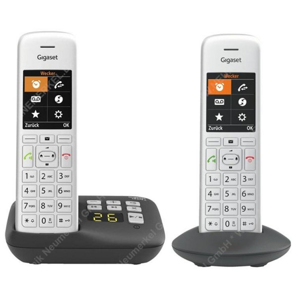 Gigaset CE575A Duo, inkl. AB, 1 Mobilteil, si/sw..