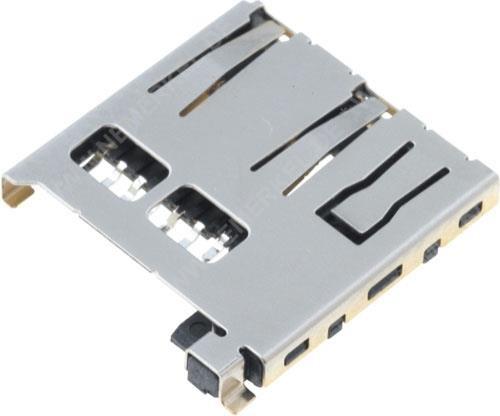 Micro-SD Halter für Platinenmontage mit Auswurf