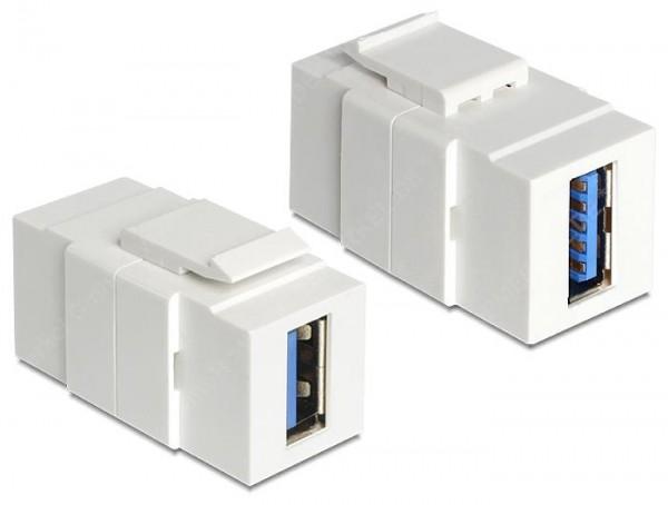 Keystone USB 3.0 Buchse/Buchse weiss ...