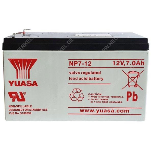 12 V 7 AH Blei-Akku Yuasa 6,3mm Anschluß...