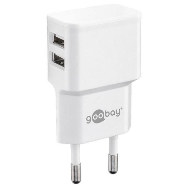 USB Dual-Ladegerät 2,4 A, flache Bauform, ws...