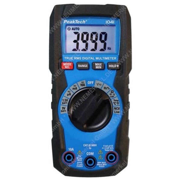PeakTech P 1041, TrueRMS Digital Multimeter...