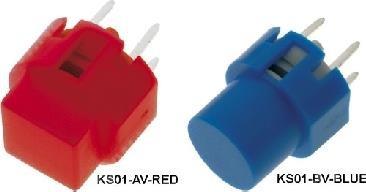 Printtaster 2-polig (1xSchließer), rot