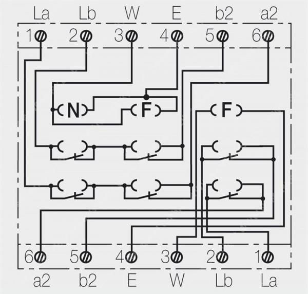 TAE 2X6/6 NFF-Ap rw Telefondose 2 Asl Rutenbeck