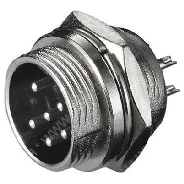 Mikrofon-Steckverbindung 6-polig Einbaustecker