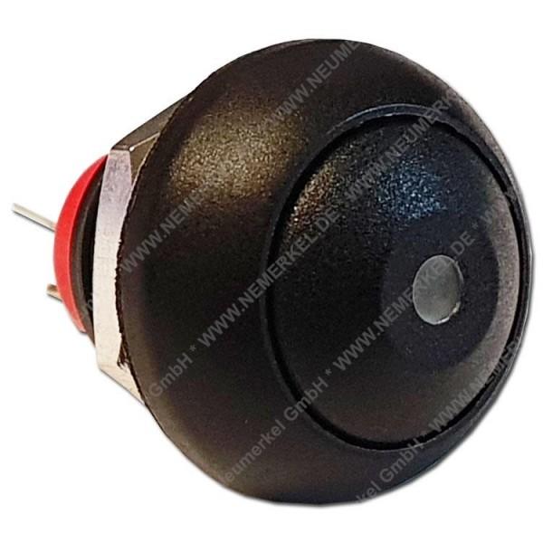 Mini Drucktaster mit weißer LED 1-polig...