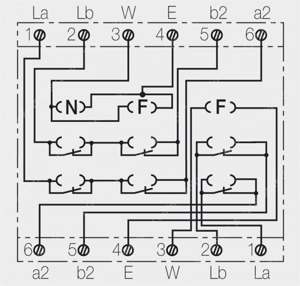 TAE 2X6/6 NFF-Up rw Telefondose 2 Asl Rutenbeck