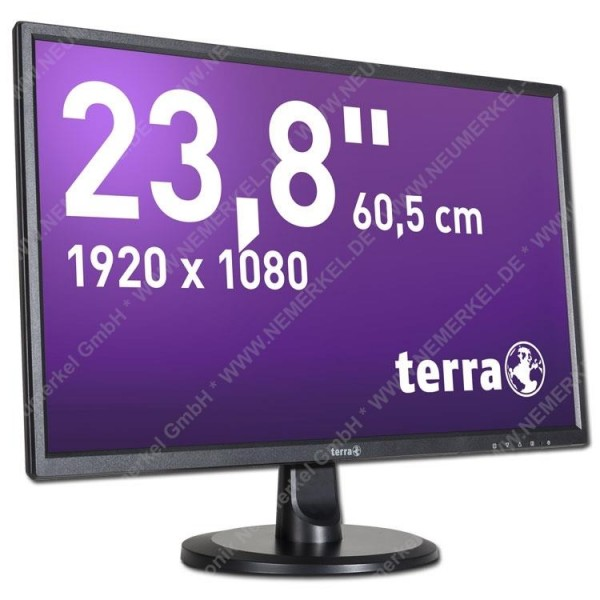 TERRA LED 2447W 23,6 Zoll mit HDMI sw/si