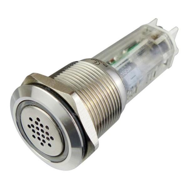 Vollmetallbuzzer, 19mm mit LED, BLANKO...
