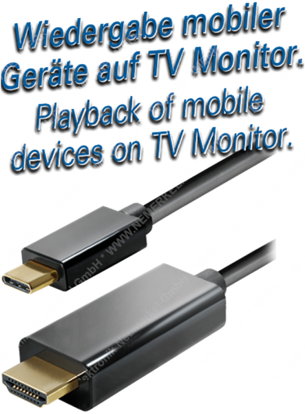 USB-C zu HDMI Kabel 2m Maxtrack
