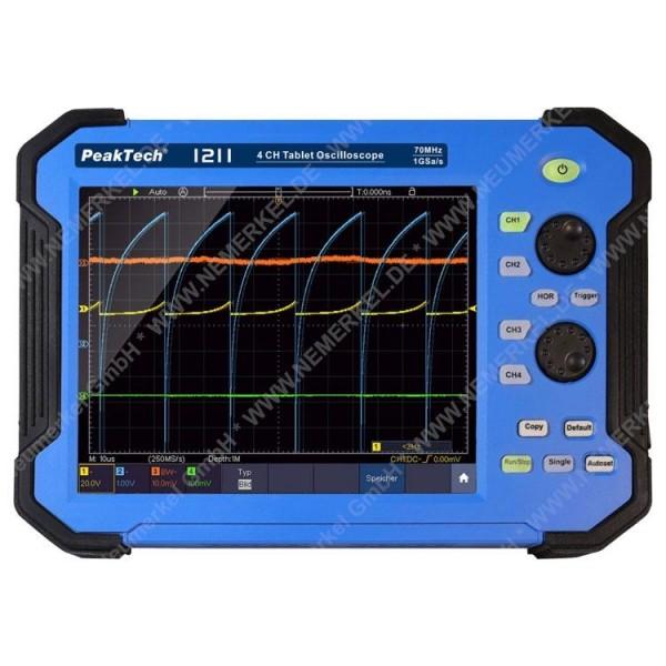 PeakTech 1211, 70 MHz Oszilloskop Tablet...