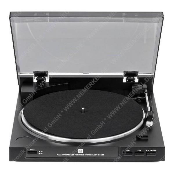DT 210USB schwarz vollautomatischer Plattenspieler
