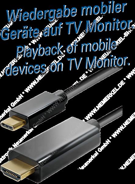 USB-C zu HDMI Kabel 3m Maxtrack
